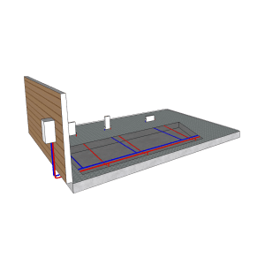hydronic heating radiator panel diagram