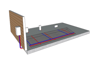 hydronic heating radiator panel diagram