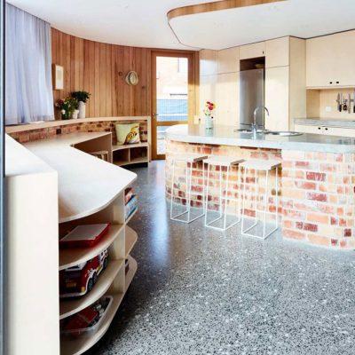 Grand Design Kensington Curvy House Hydronic Slab Heating Kitchen